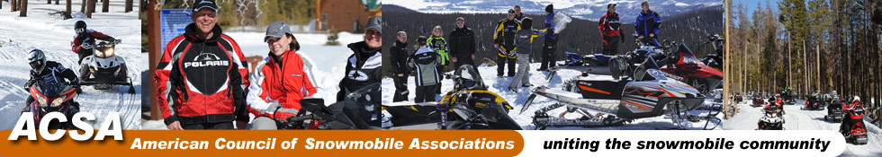 ACSA-montage of snowmobilers and snowmobiles
