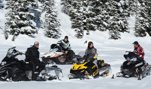 Snowmobilers talking